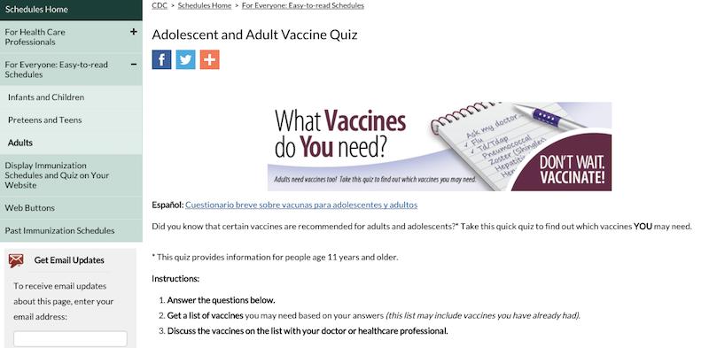 vaccines wellness