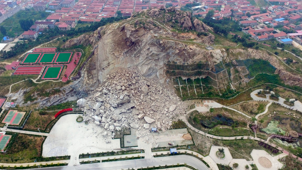 china earth-sciences geology landslides natural-disasters rockslides