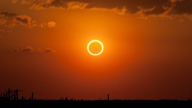 annular-eclipse eclipse ring-of-fire ring-of-fire-eclipse sky-guide space sun