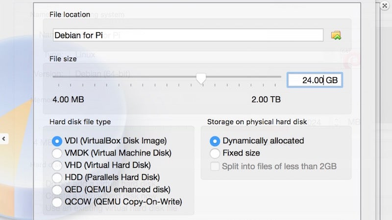 debian linux raspberry-pi virtual-machine virtualbox