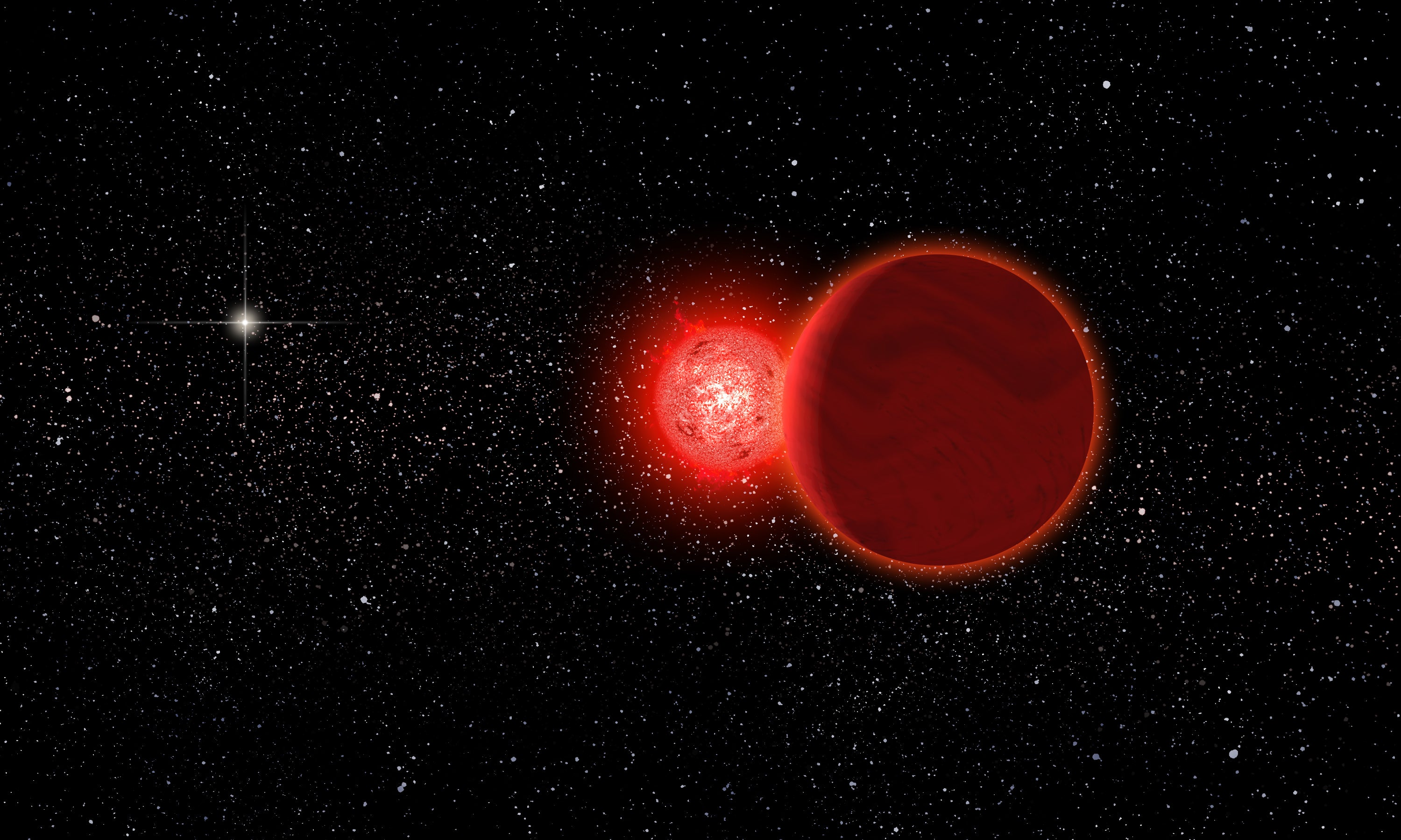 A Visiting Star Jostled Our Solar System 70,000 Years Ago