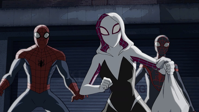 cartoons disney-xd marvel marvel-comics panel-discussion spider-gwen spider-man spider-verse ultimate-spider-man