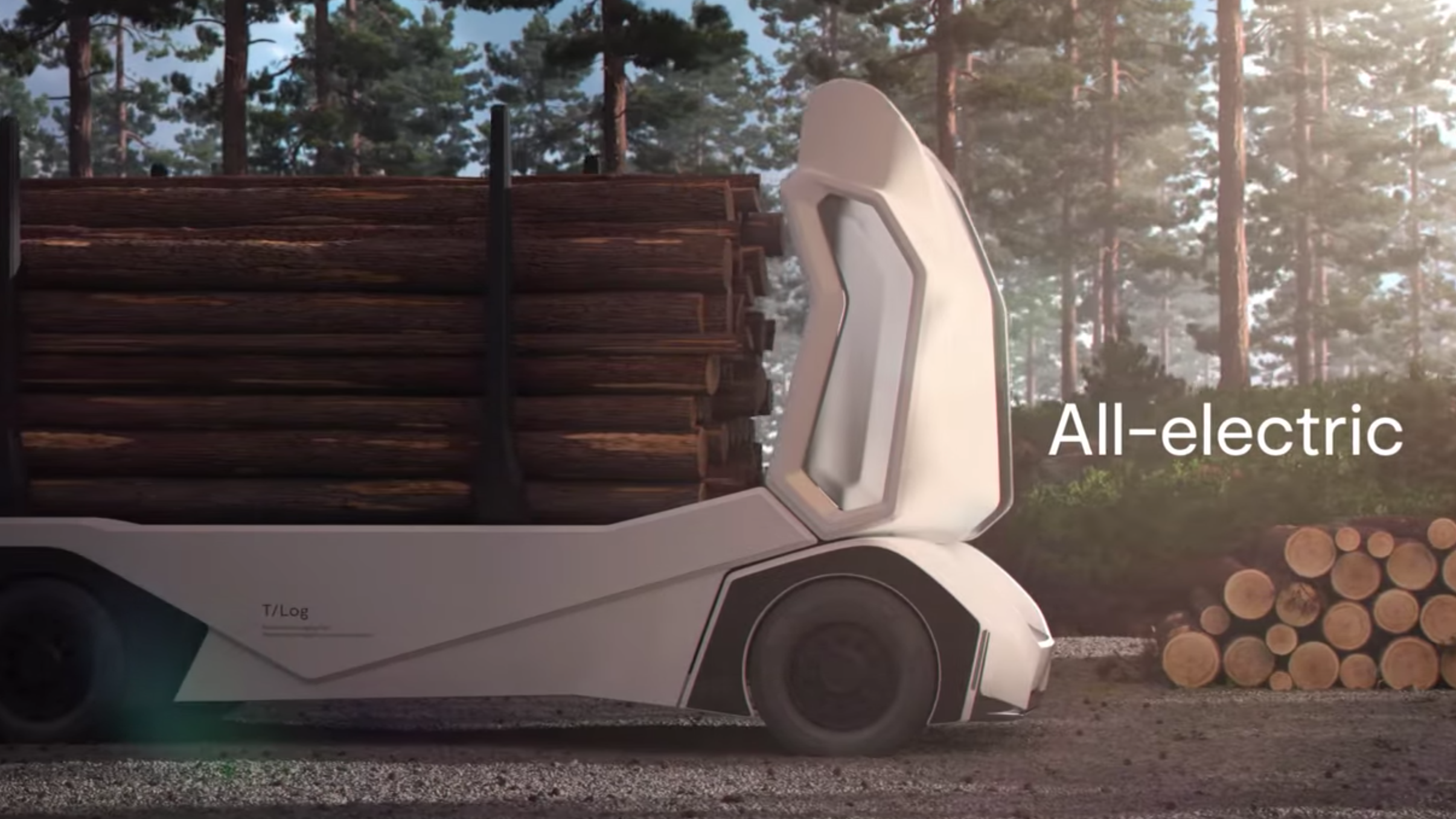 Here's An Autonomous Electric Logging Truck