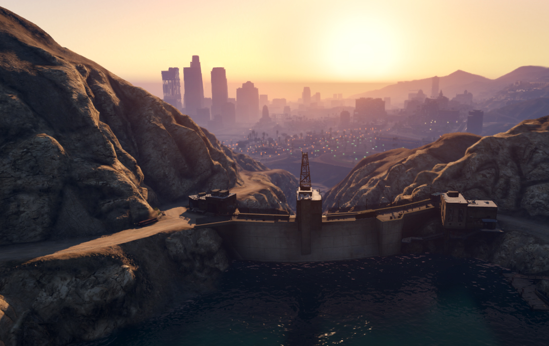 dam editors-picks grand-theft-auto gta-v hijinks kotaku-core los-santos rockstar theories