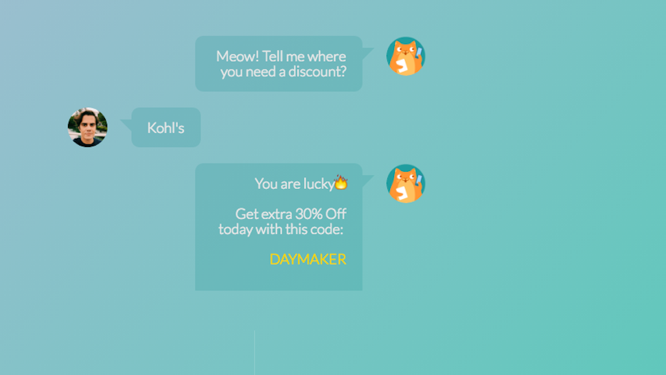 chat-bots coupon-codes coupons discounts facebook facebook-messenger shopping web-services
