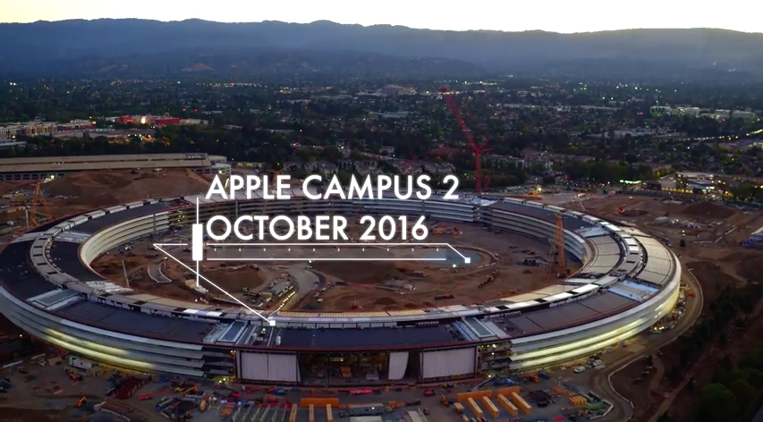 4k aerial-video apple-campus-2 drone-video video