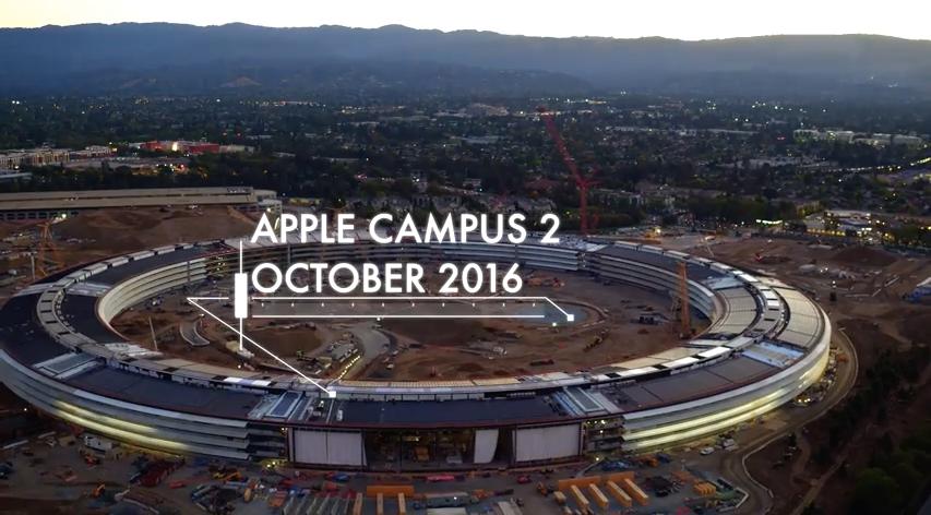 4k aerial-video apple-campus-2 drone-video video