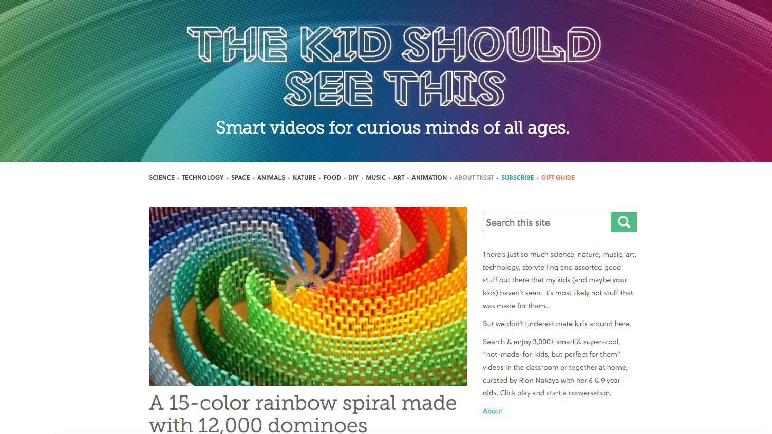 Use This Website As Your Antidote To The Mind-Numbing Kids' Videos On The Internet