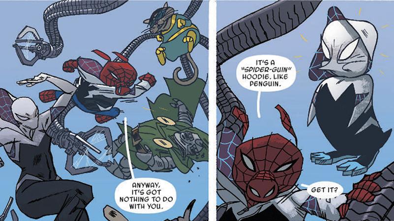 comics marvel marvel-comics panel-discussion spider-gwen spider-ham spider-man