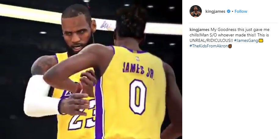Even LeBron James Is Impressed With This 2K Fan Video