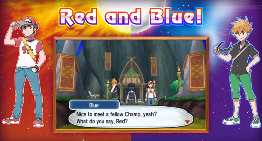 Pokemon Sun And Moon Shows Us Red And Blue As Adults