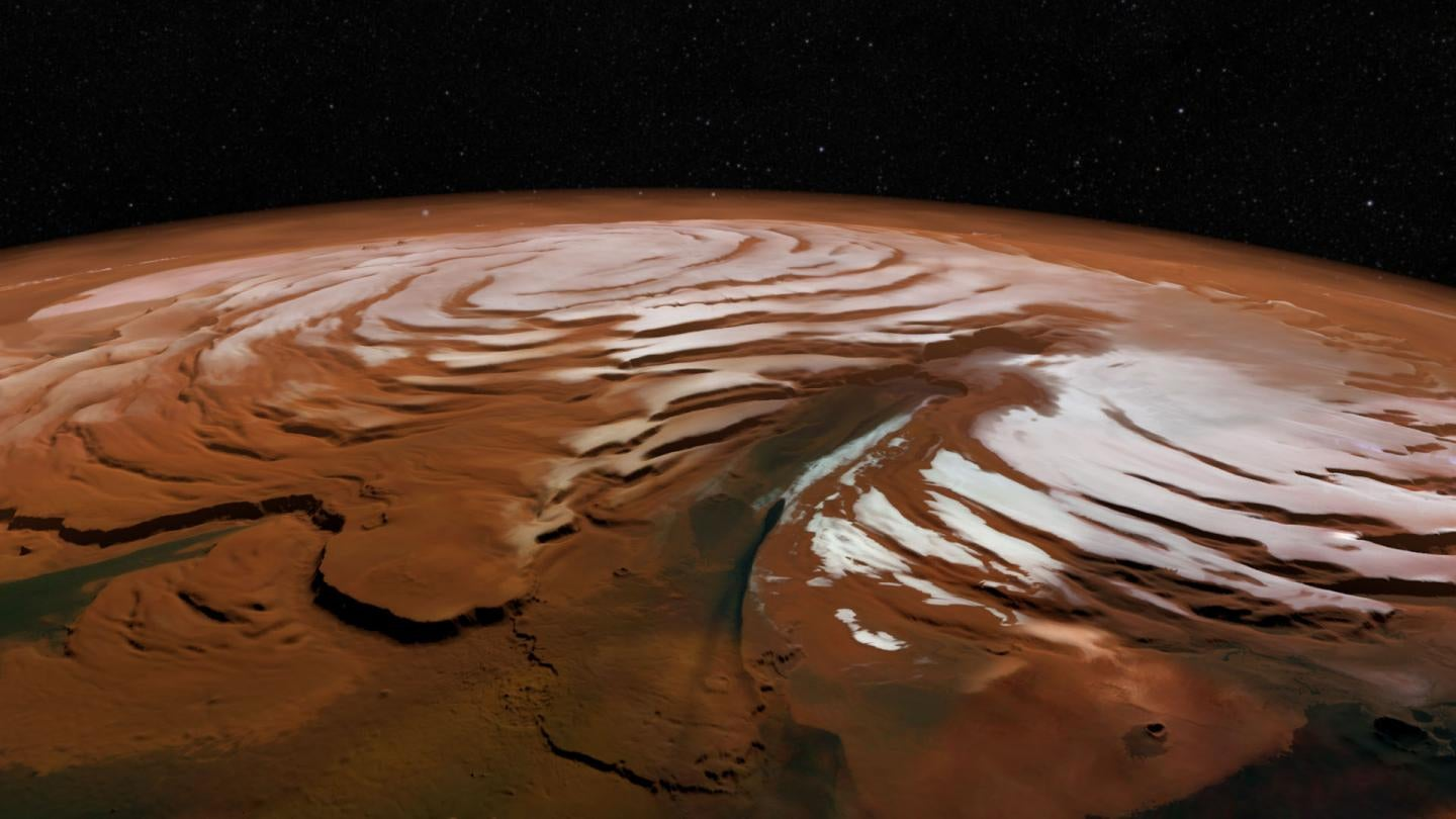 An Astounding Amount Of Water Has Been Discovered Beneath The Martian North Pole