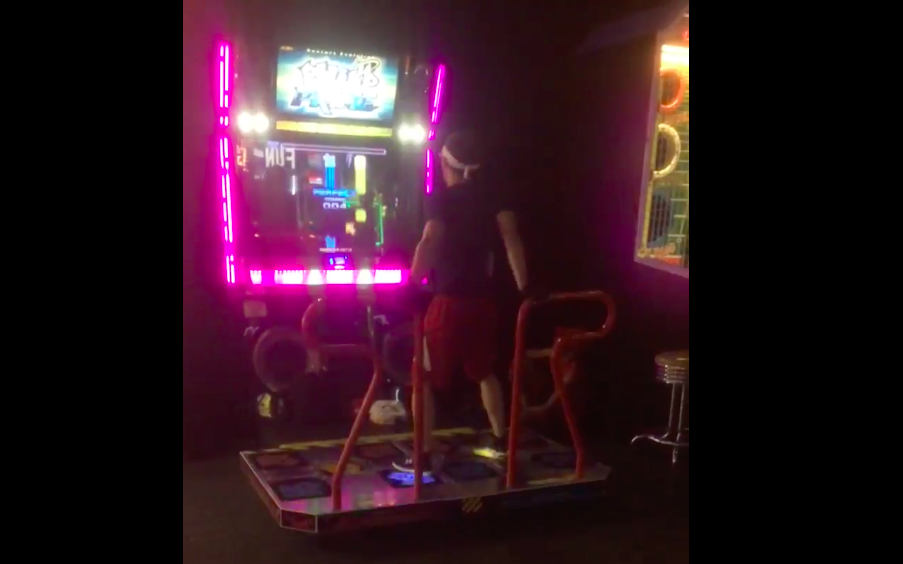 dave-busters pump-it-up video