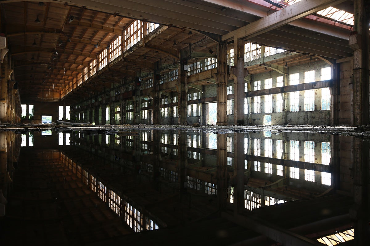 Abandoned Shipyard Halls Look Magical After Heavy Rain
