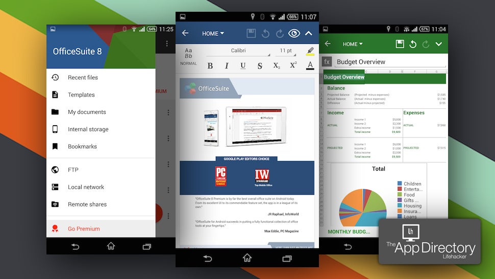 App directory the best office suite for android lifehacker australia - Office apps for android free ...