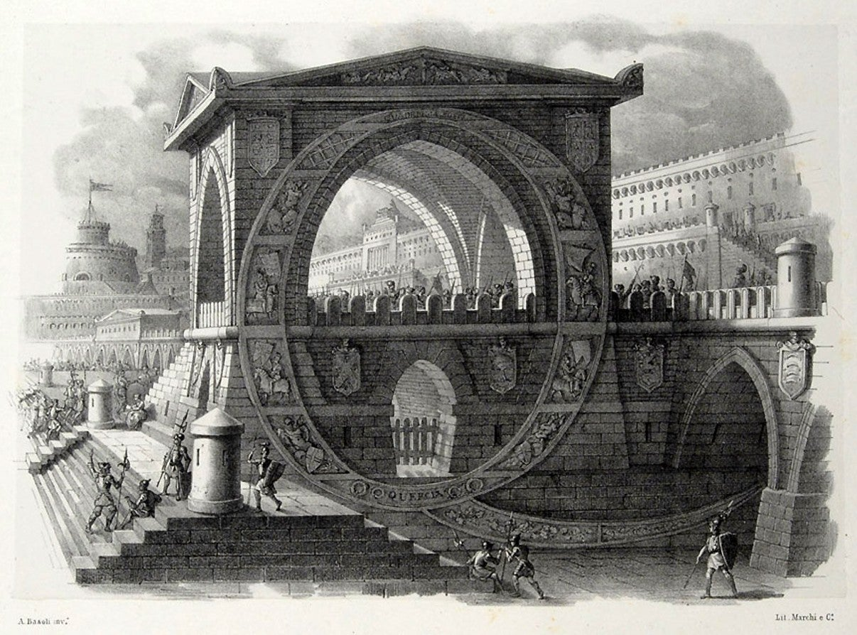 Beautiful architectural alphabet engravings should be built for real