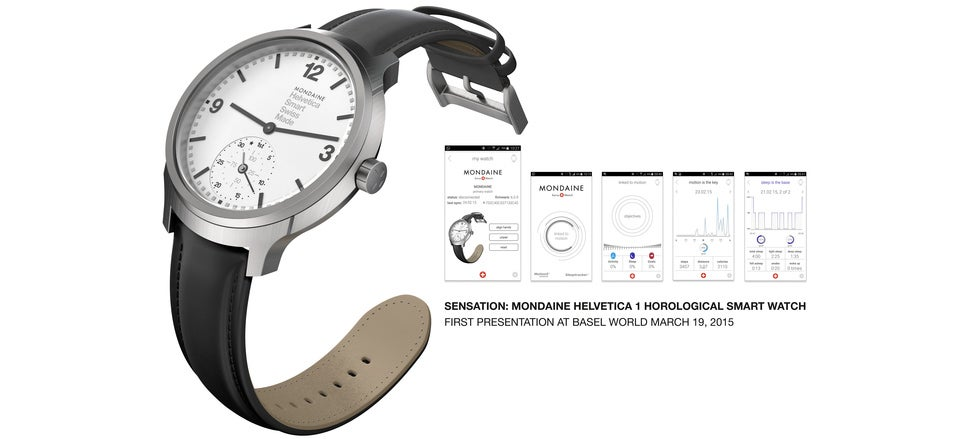 You'd Never Know This Stylish Helvetica Watch Is A Fitness Tracker