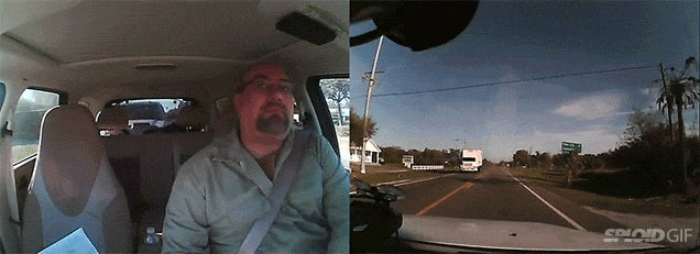 Dash cam reveals the human bouncing that happens inside a car crash