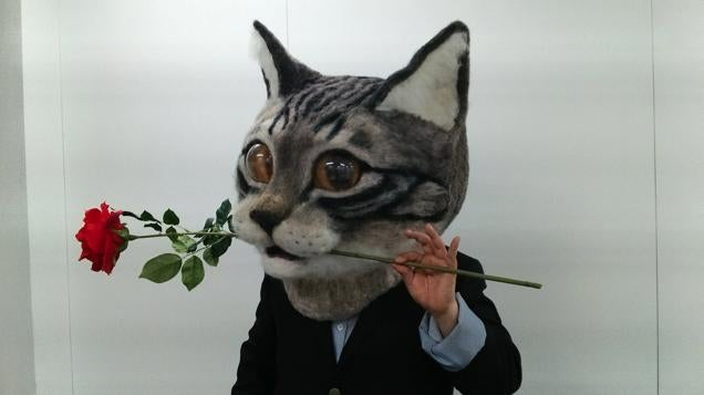 You Can Wear This Freaky Cat Head in Tokyo
