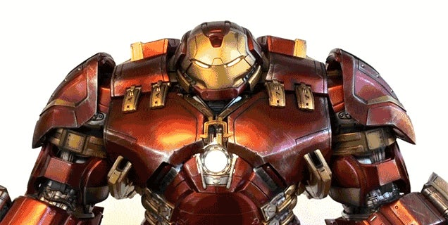 This Four-Foot Tall Animated Iron Man Hulkbuster Figure Is a Masterpiece