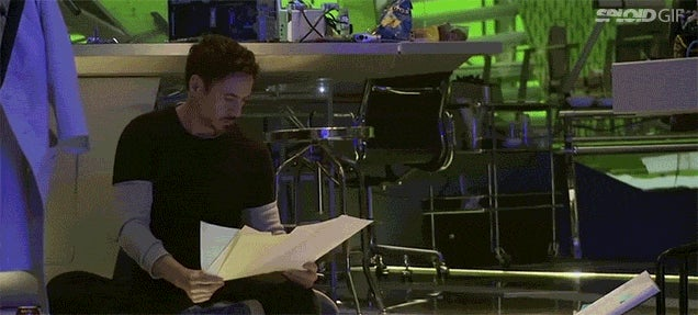 Behind the scenes footage of Avengers 2 shows how goofy movie making is