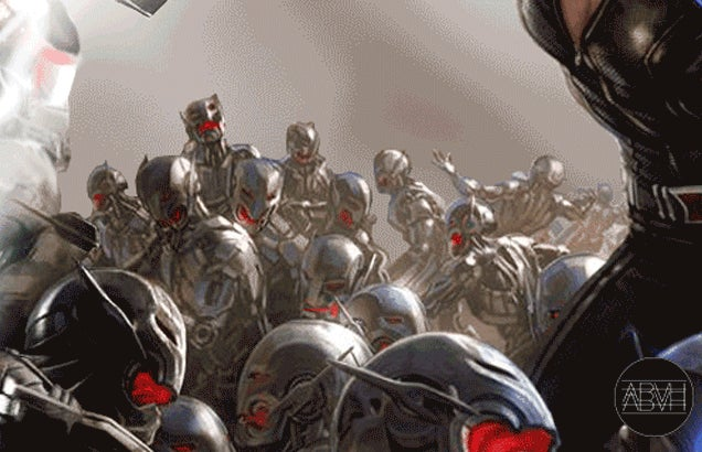 The Avengers: Age of Ultron poster animated in a neat infinite GIF