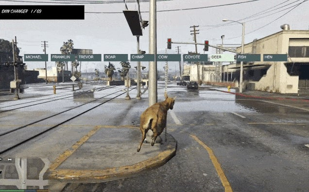 Play GTA V As A Deer In Rainy Los Santos Using A New PC Mod