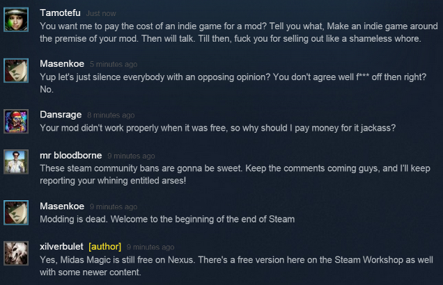 Steam Users See Big Problems With Charging For Mods
