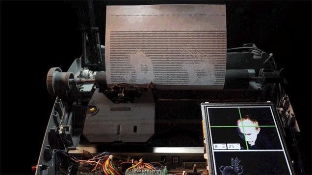 Modded Typewriter Prints Selfies As ASCII Art