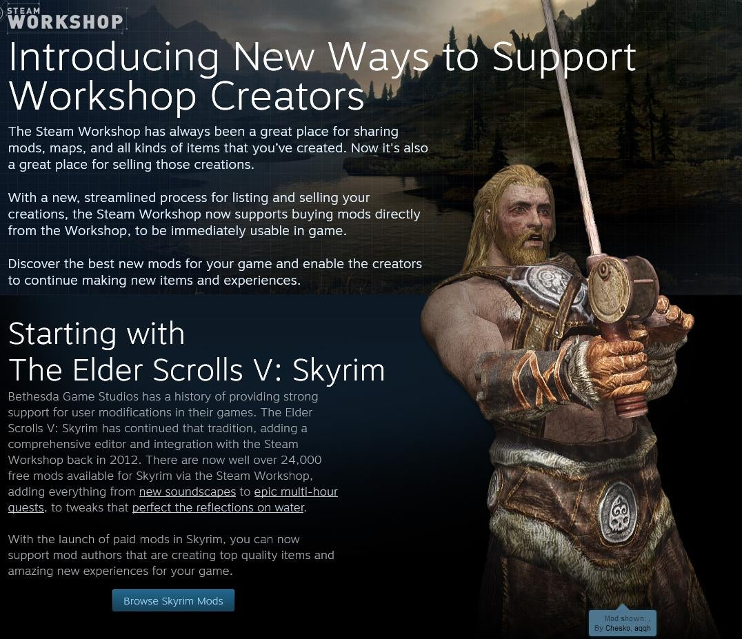 Paid Skyrim Mod Turns Into a Clusterfuck (UPDATE)
