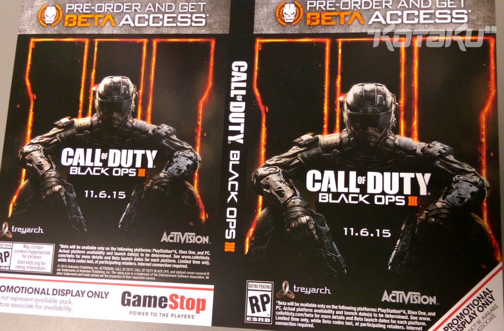 Call of Duty: Black Ops III Will Be Out On Nov 6, New-Gen Beta Planned