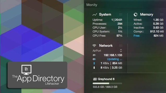 App Directory: The Best System Monitor For Mac OS X