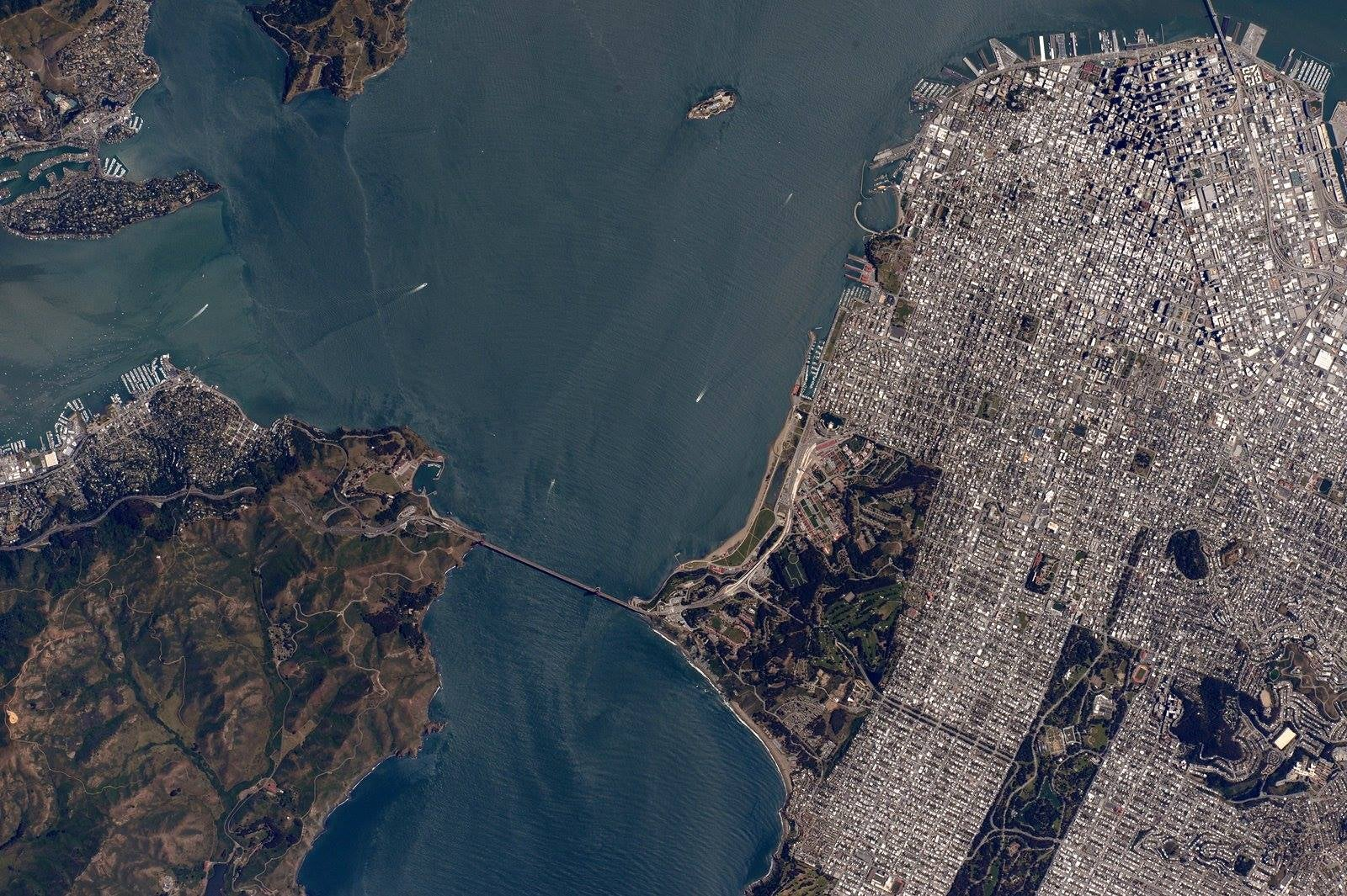 This Photo of San Francisco Was Shot Just Minutes Ago From Space