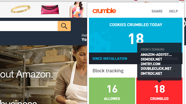AVG Crumble Blocks Tracking on Sites You Visit, No Lists Required