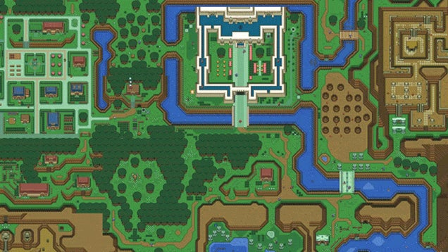 Someone Made A Cool Browser Version of A Link To The Past's Map