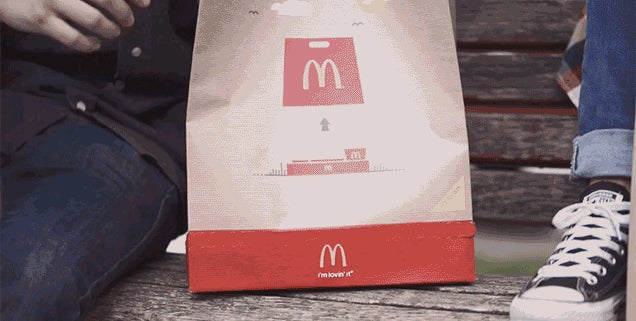 McDonald's Invented a Takeout Bag That Transforms Into a Serving Tray