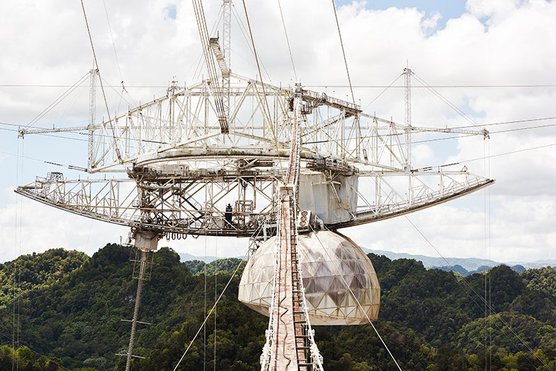 The Ageing Giant of Telescopes, Shrouded In Tropical Mist
