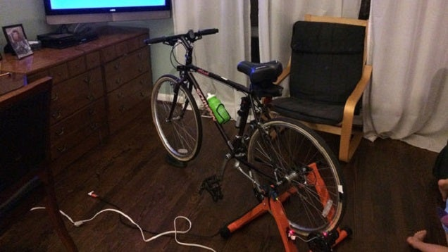 Build an Exercise Bike That Won't Let You Watch TV Unless You Pedal It