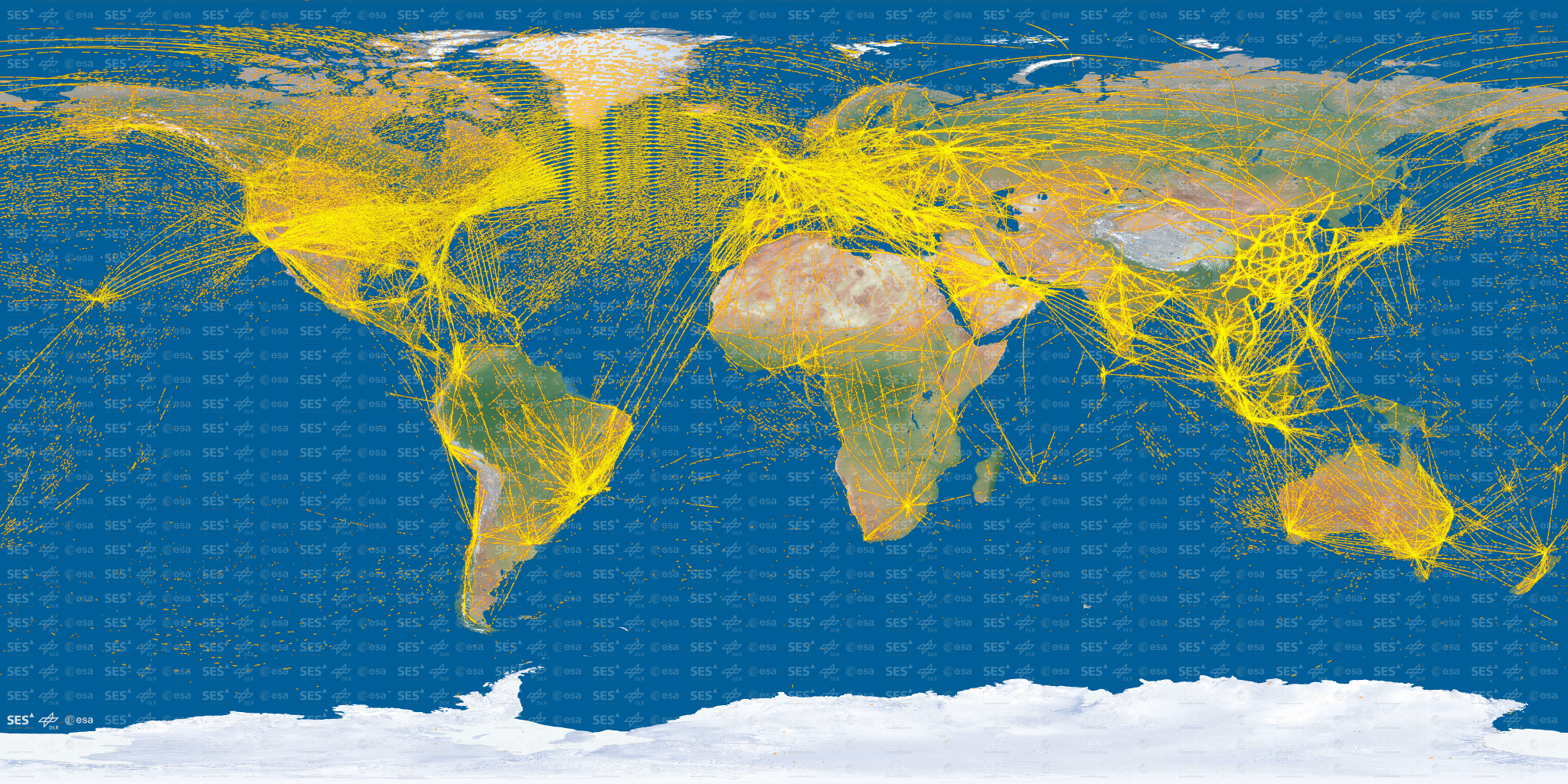 This Is What 15,000 Aircraft Look Like To Satellites In Space