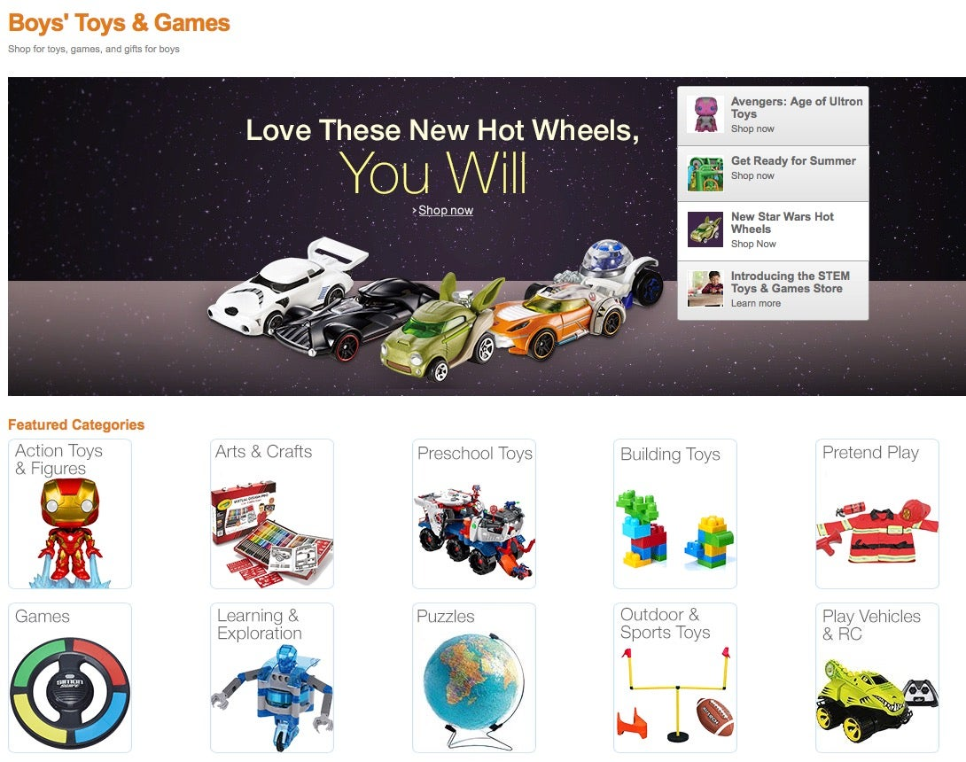 Amazon Didn't Really Eliminate Gender Taxonomy for Toys — Yet