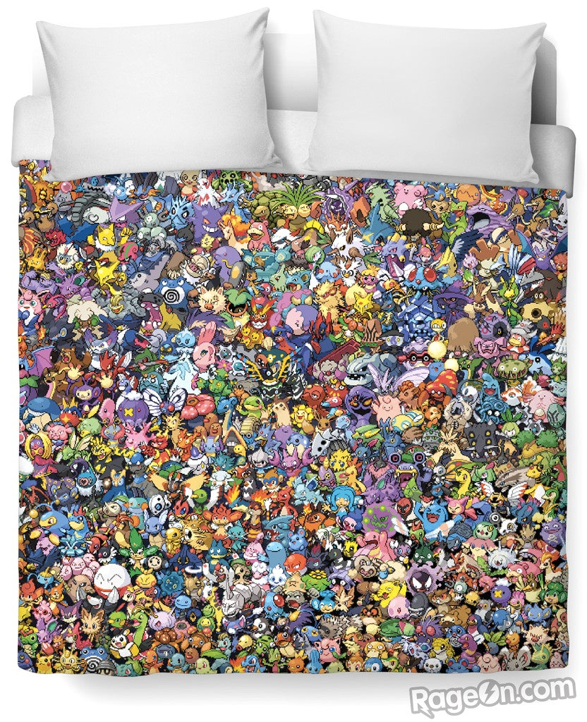 Can You Name All 721 Pokemon Squeezed Onto This Blinding Duvet Cover?