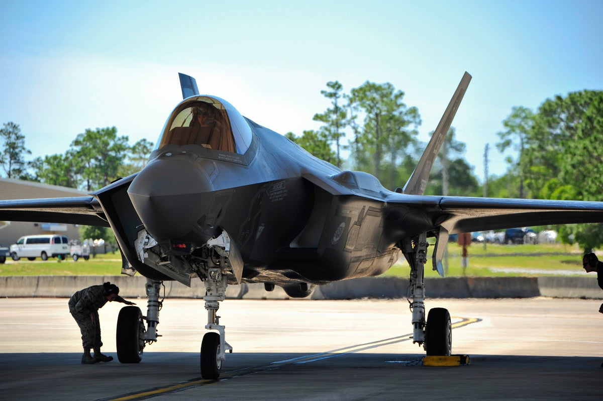 See The First Female F-35 Pilot Begin Her Training