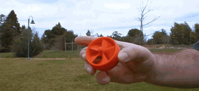 3D-Print This Flying Toy You Launch From a High-Speed Spinning Dremel