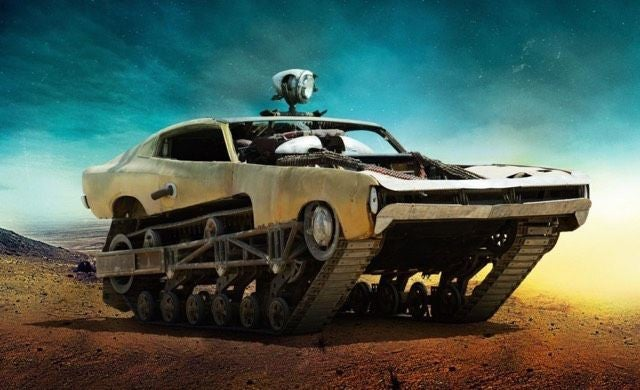 Crazy Mad MaxCar Shows How Badass It Is By Scaling A Sand Wall