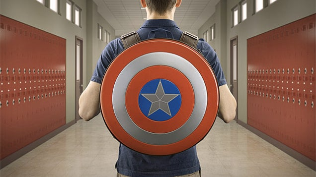 Hunt Hydra At Your High School With a Captain America Shield Backpack