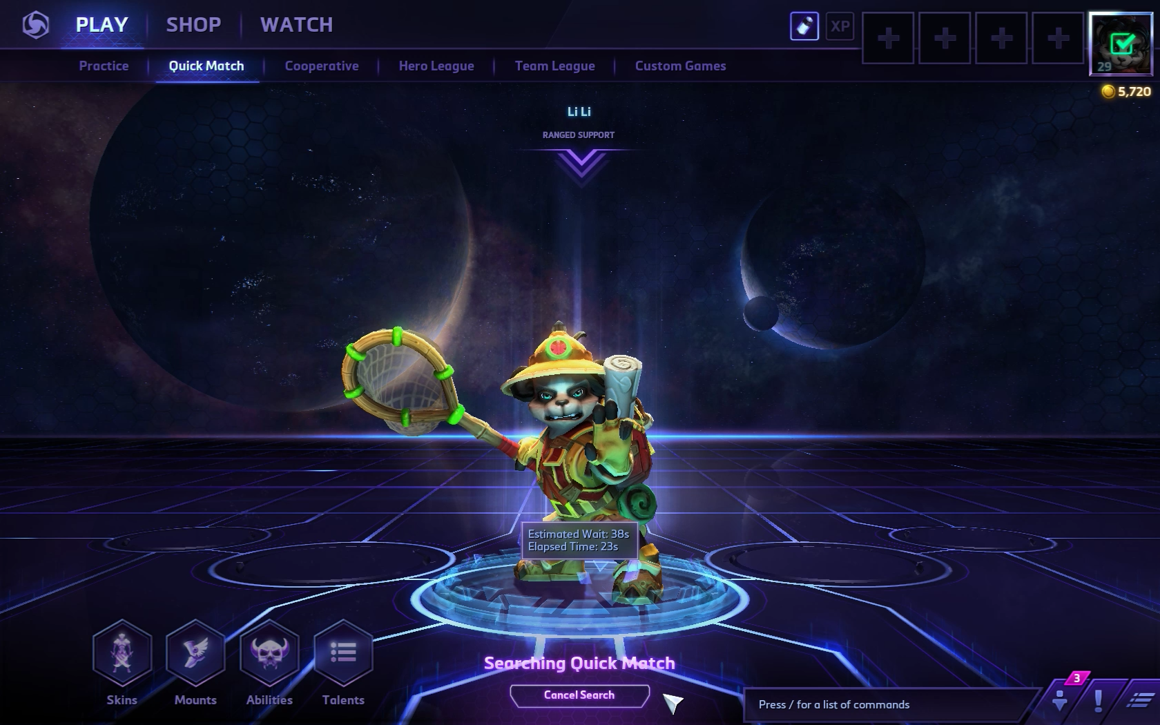 Heroes Of The Storm Matchmaking Time
