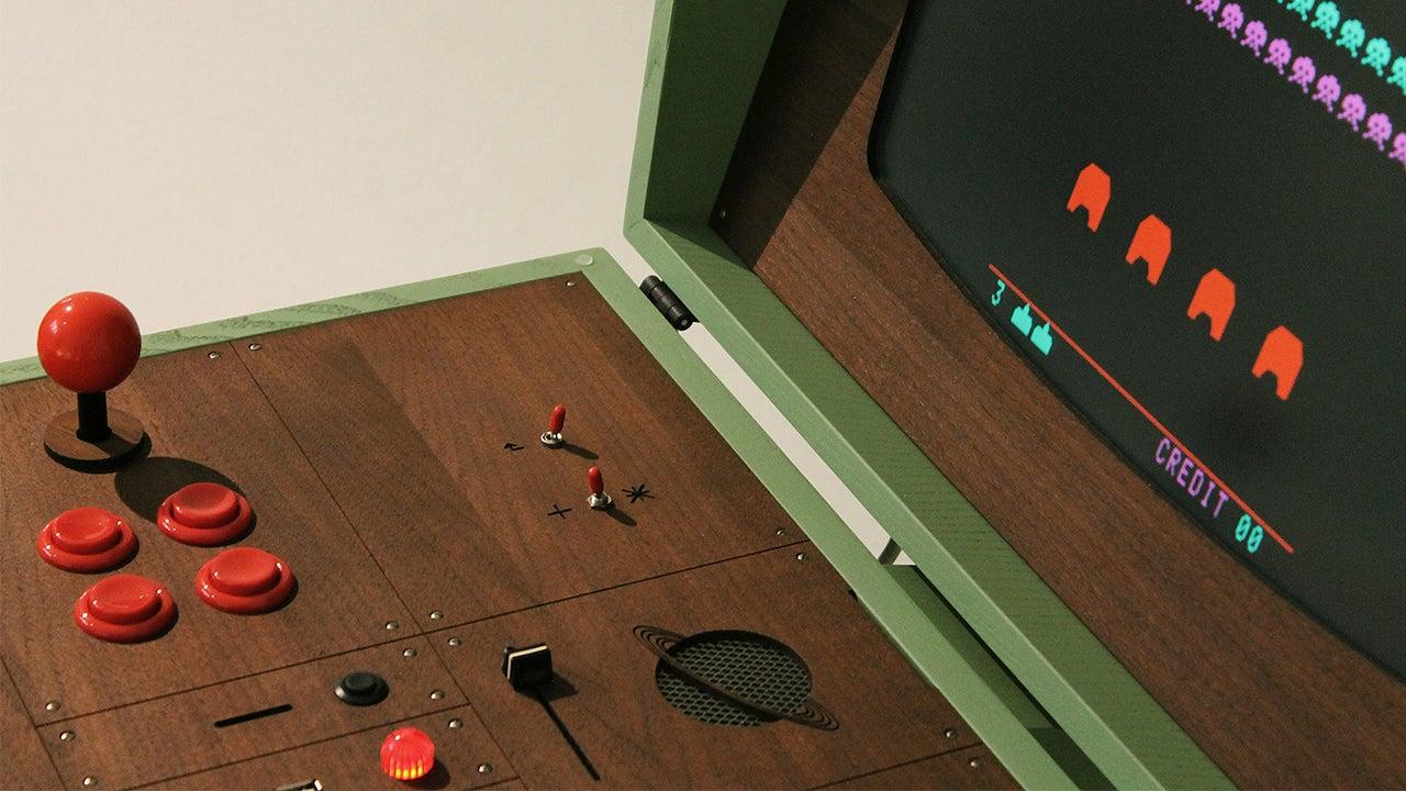 A Retro-Futuristic Arcade Cabinet That Plays Equally Retro Games