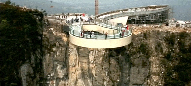 I Can Barely Watch This Video of the World's Longest Skywalk