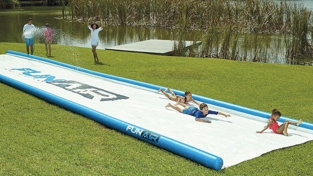 You Could Slide a Truck Down This Monstrous 50-Foot Long Slip N' Slide
