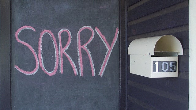Why You Shouldn't Be Afraid To Apologise At Work